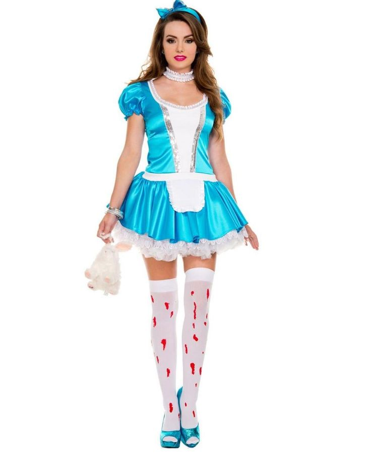 Women Deluxe French Maid Costume 2015 Blue Beer Girl Halloween Cosplay Costume W438655