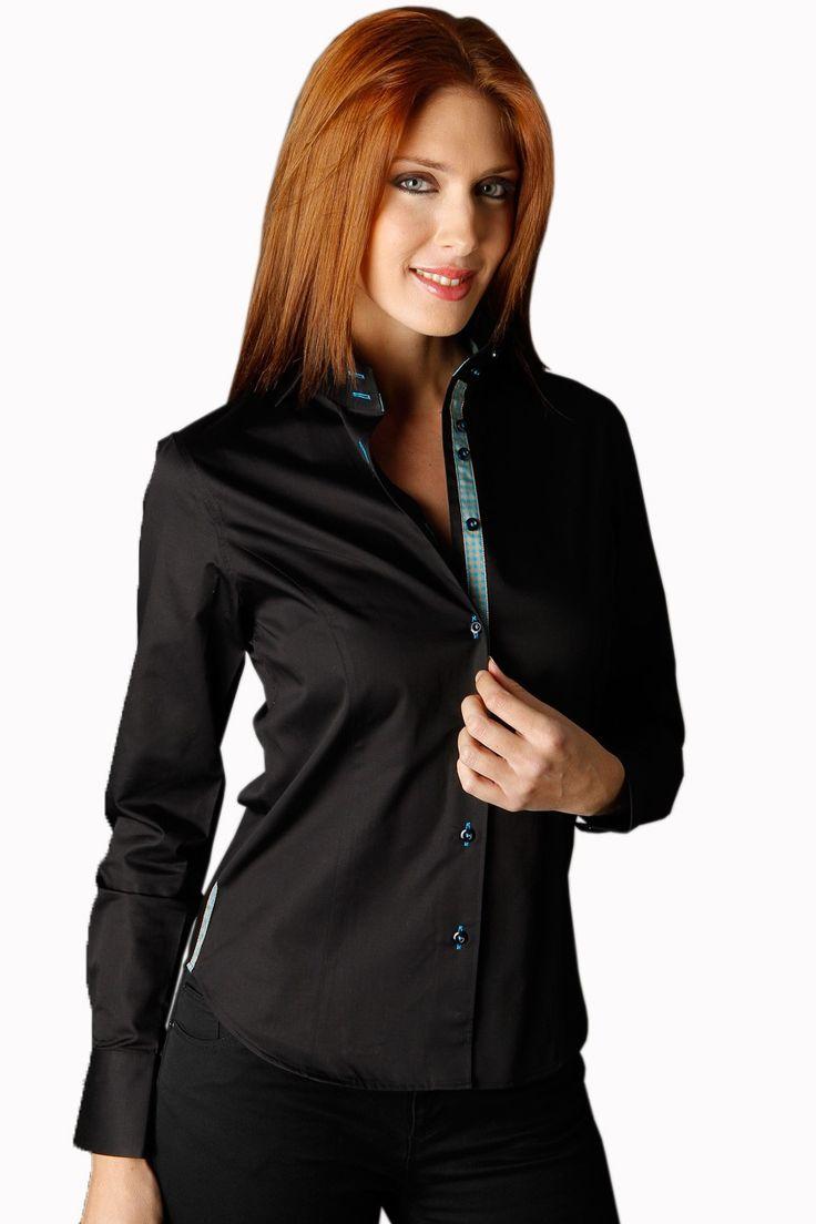 la chemise femme noire est particuli re avec la patte de. Black Bedroom Furniture Sets. Home Design Ideas