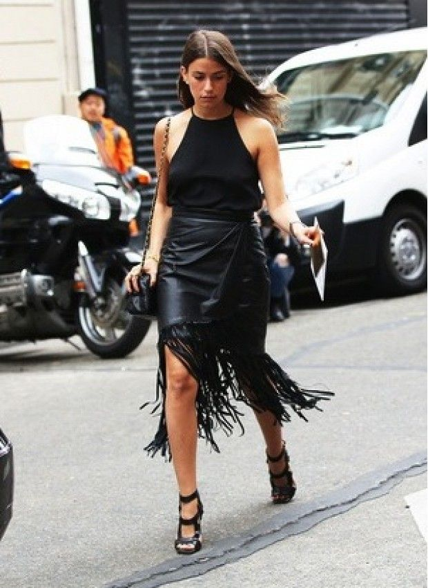 14 best Black Fringe Skirt images on Pinterest