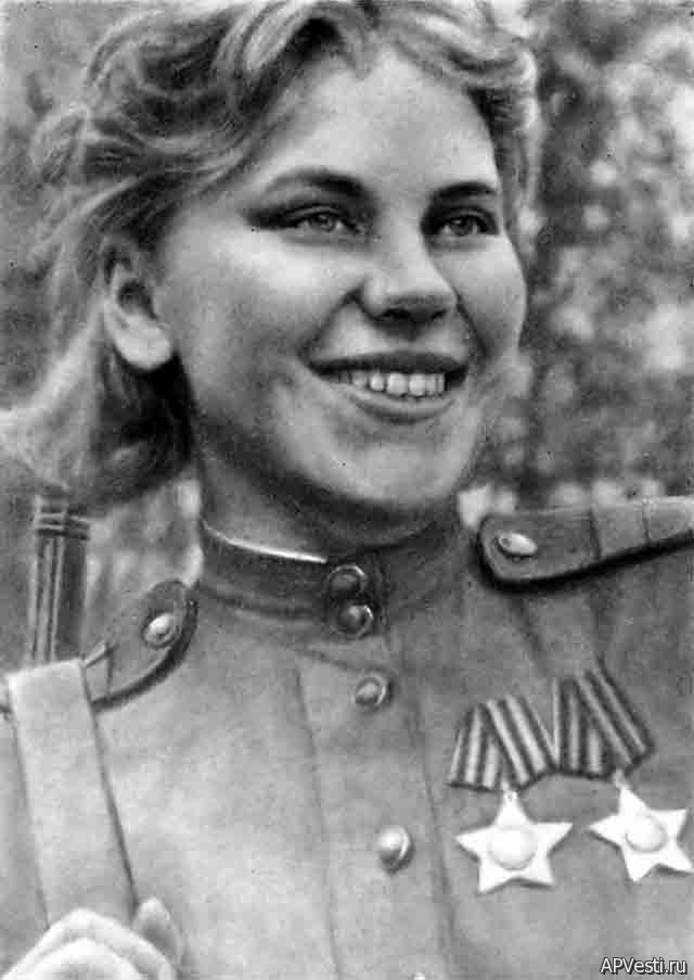 Roza Georgiyevna Shanina was a Soviet sniper during World War II, credited with 54 confirmed kills, including 12 snipers during the Battle of Vilnius. Praised for her shooting accuracy, Shanina was capable of firing precise semi-automatic shots on moving enemy targets. She volunteered to serve as a marksman on the front line.