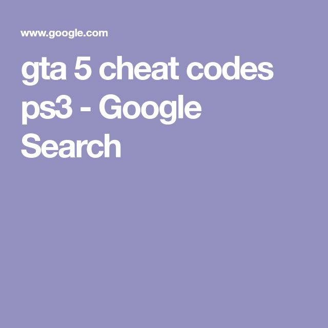 gta 5 cheat codes ps3 - Google Search