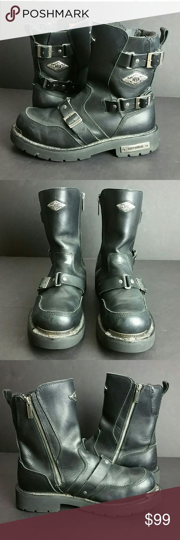 HARLEY DAVIDSON MEN'S BOOT VERY CLEAN INSIDE-OUT   SKE # RCPO HARLEY DAVIDSON Shoes Boots