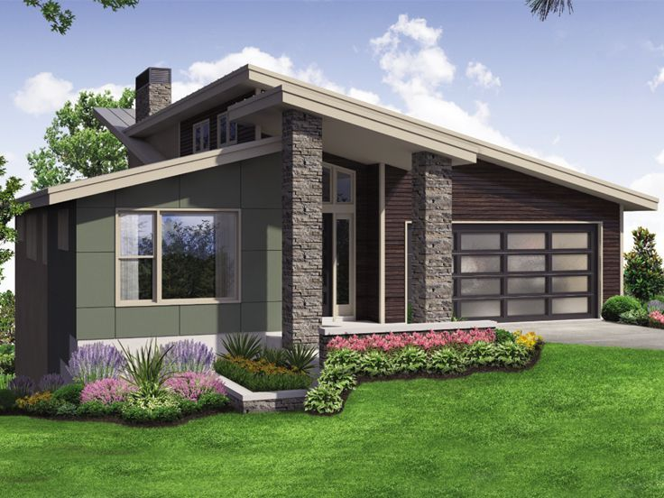 051H-0267: Unique Modern House Plan Ideal for Waterfront ...