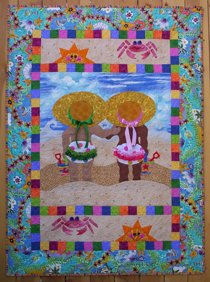 Quilting Patterns Beach Theme : 1000+ images about Beach/Sea Themed Quilts on Pinterest The whale, Boats and Quilt