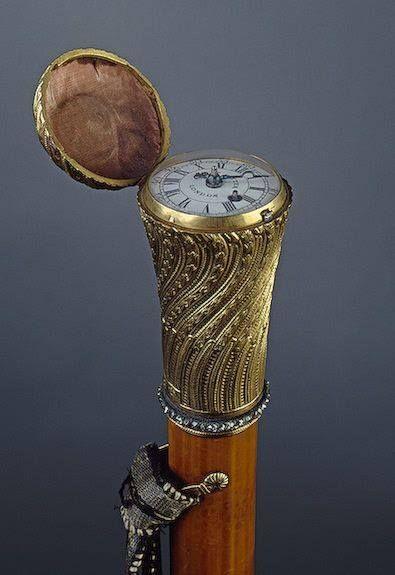 The Gryphon's Nest — Cane With A Clock, England Circa 1700's
