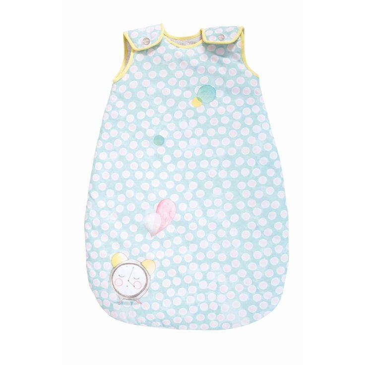 Kuschelweicher Baby Schlafsack 70 cm in zartem blau der Kollektion Les petits Dodos