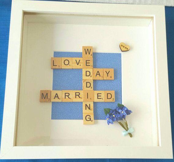 Wedding Art Scrabble Picture Gift Frame Ideas Favour Present