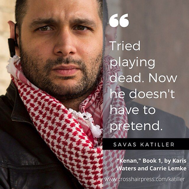 """And now for the cuddliest member of the Katiller team...Savas is the surly sniper of their little eclectic family and the main protagonist in book 2 of the Katiller international thriller series, my current #wipjoy. You can meet him through our FREE character shorts at www.crosshairpress.com, or in """"Kenan,"""" book 1 in the series by Carrie Lemke and Karis Waters #travel #thriller #books #bookstagram #fiction #novels #authorsofinstagram #amwriting #wip"""