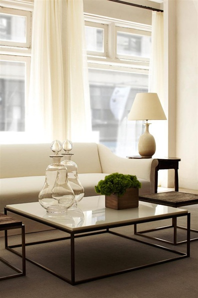 sleek modern coffee table