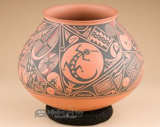 "Premium Mata Ortiz Pottery 6.5""""x5.5"""" -Saul Veloz (mo40)"