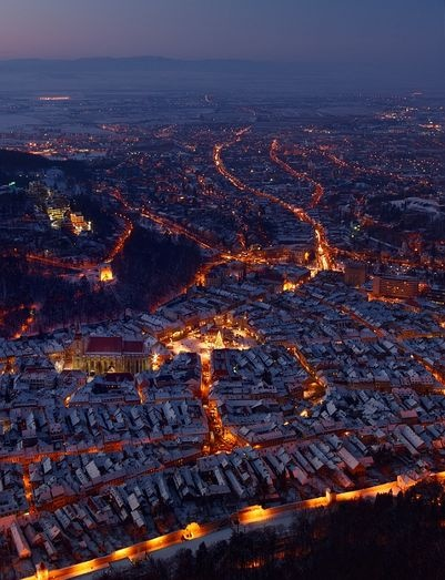 Brasov, Romania  I'm fascinated with Romanian culture.  I def want to go here one day.