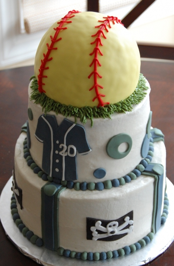 Softball Cake ... but could be made as a baseball! Lori... Check this out. This would be cute for Haileys team party.