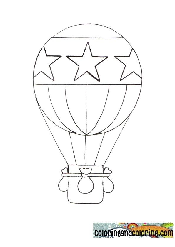 Paper Hot Air Balloon Template | Hot Air Ballon Coloring ...