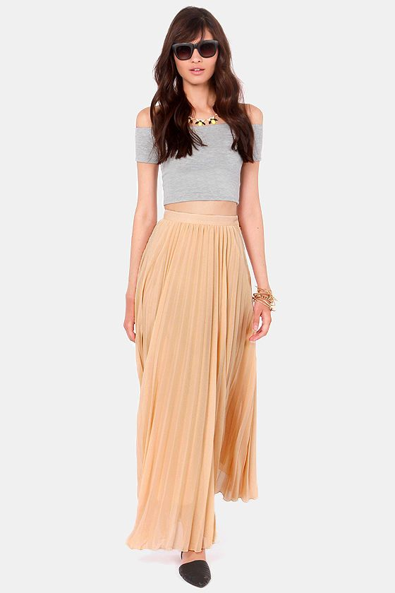 Black Sheep Zephyr Beige Maxi Skirt at LuLus.com! #lulusrocktheroad