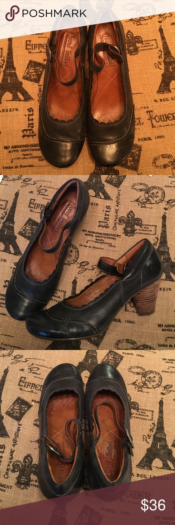 Navy Josef Seibel Pumps Size 9 (39) Navy Blue Leather Shoes Size 9 (39). I think they would fit 8.5 well. Rarely worn. Josef Seibel Shoes