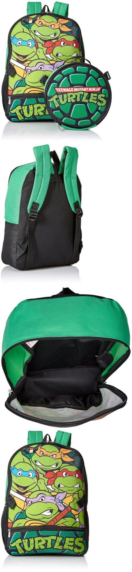 Backpacks and Bags 57882: Boys School Backpack Bookbag Teenage Mutant Ninja Turtles Lunch Box Green New -> BUY IT NOW ONLY: $44.14 on eBay!