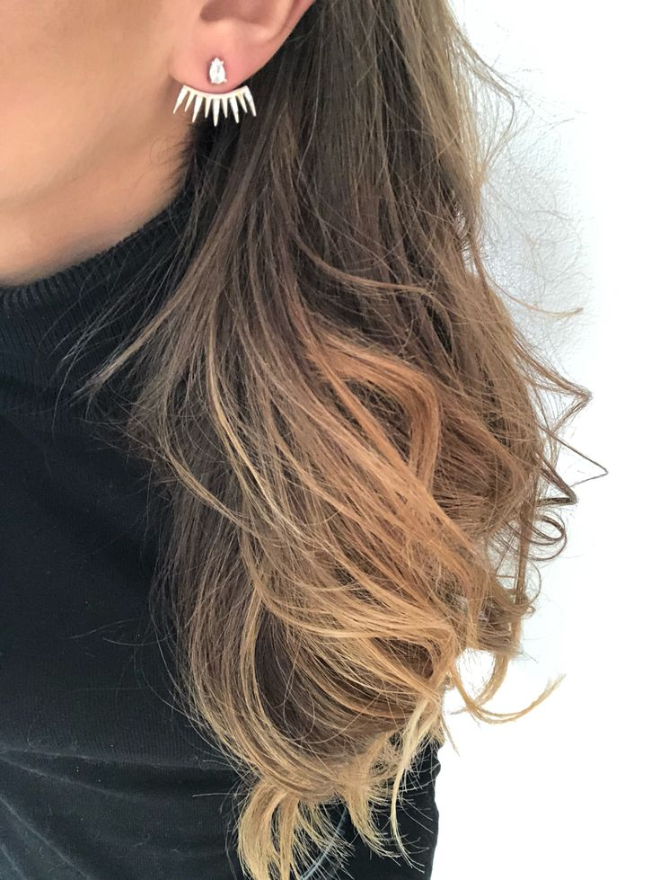 Silver earjacket earring on www.goldentiara.gr