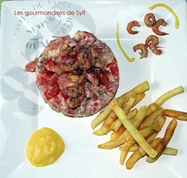 Les gourmandises de Sylf: Tomates crevettes, mayonnaise maison et frites pour la fête nationale belge