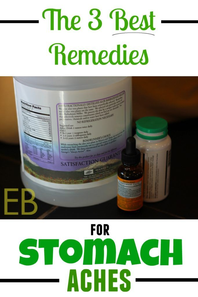 The 3 Best Remedies for Stomach Aches