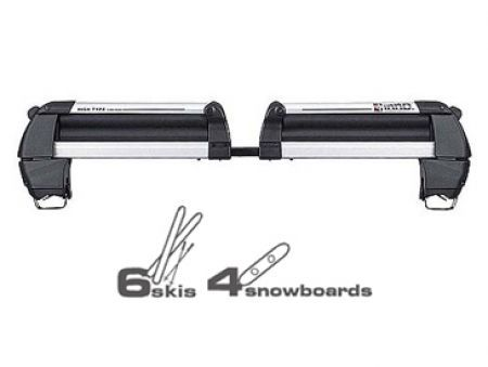 Inno Raised Rail Ski and Snowboard Rack - RH708-  For snowboarding and skiers looking for the most carrying capacity. Elevated carrier position allows for tall binding clearance and maximum carrying capacity. Split design adjusts rack to width of car easily. Both sides open and can be loaded and unloaded at the same time without having to stretch to reach for your equipment. - See more at: http://www.racknroad.com/product/inno-raised-rail-ski-and-snowboard-rack.html#sthash.hzxz3aGO.dpuf