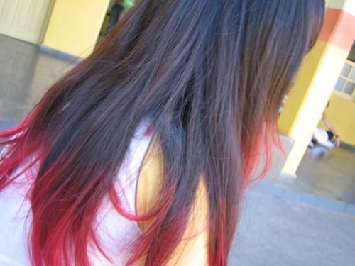 cabello con puntas rojas - Buscar con Google