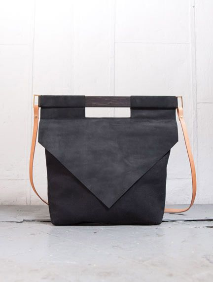BLACK NUBUCK bag by Chiyome