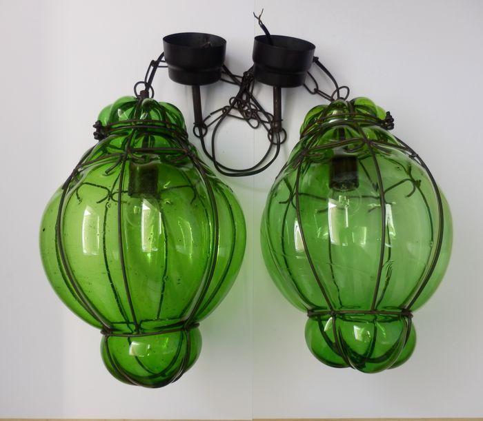 Online veilinghuis Catawiki: Venetiaans glas - 2 lampen - 2e helft 20e eeuw.