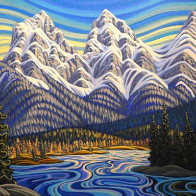 Three Sisters - Canmore - Art by Artist Patrick Markle