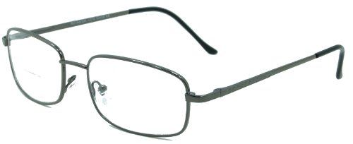 Enda Middle BiFocal Reading Glasses. No More Looking Over the top of Your Reading Glasses when you need to Walk Around. These BiFocal Reading Glasses Look Smart and Give you a lot of Flexibilty whether you're Reading or Looking in the Distance/pewter/1.50. Lightweight Comfortable Metal Frames. Perfect For Reading or Working on Your Computer. Beautifully Italian Designed Top Quality Reading Glasses. These Reading Glasses have that in demand Classic look. UV Protection.