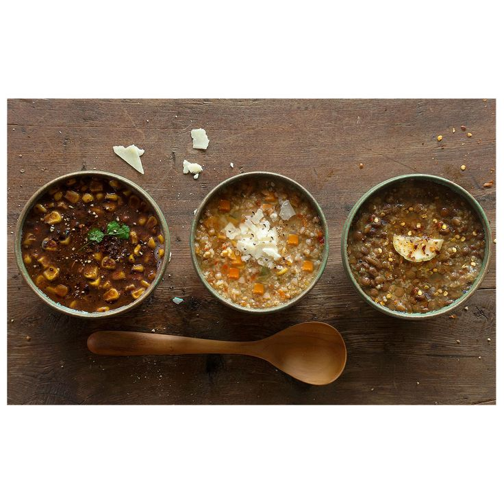 Enjoy two, 2-serving packets each of our Provisions Tsampa, Black Bean and Green Lentil soup mixes (6 packets in all). Order online at Patagonia.com.