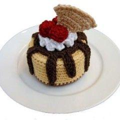 вязаный торт крючком