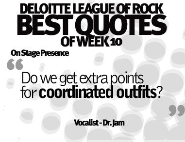 Words of wisdom, from The Deloitte League Of Rock.