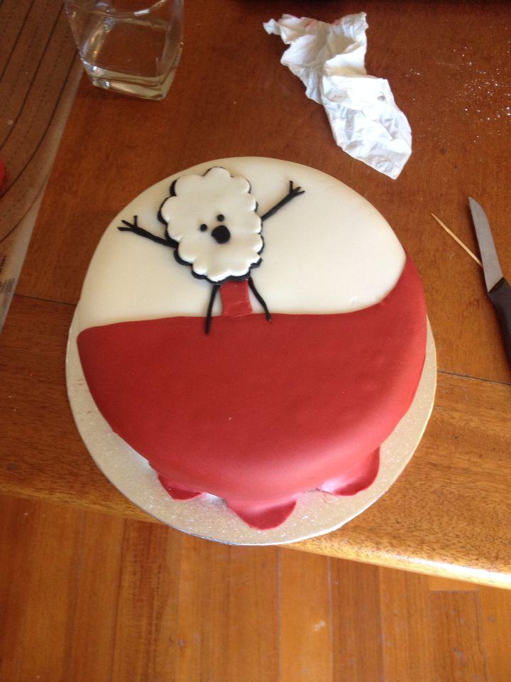 Red Velvet cake - top