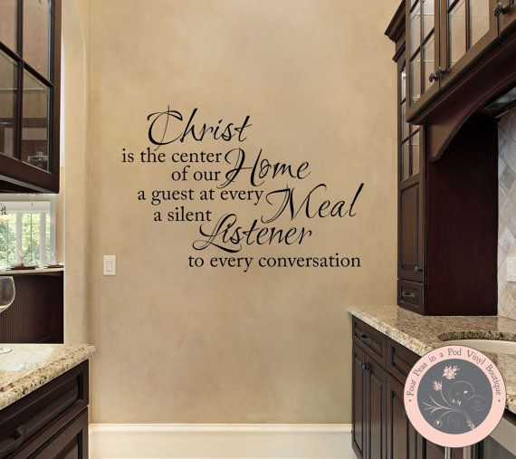 Wall decal for the home christ is the by fourpeasinapodvinyl 13 00