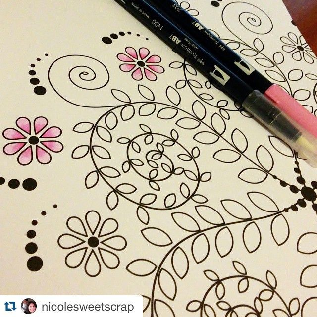 Spectacular Create Coloring Book 61 Use the Tombow Dual