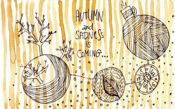 Autumn And Sadness Is Coming Art Print by dorc | Society6