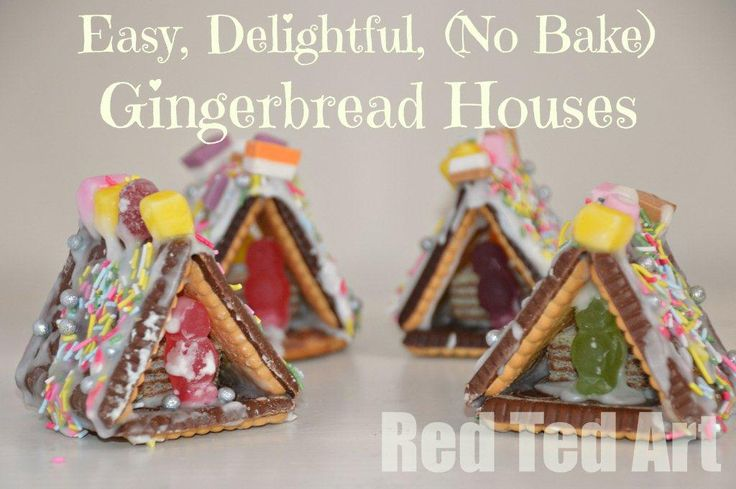 Gingerbread Houses, easy, delightful and no bake. Yay!