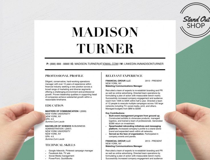 8 best Madison Turner Resume Template images on Pinterest - campaign manager resume