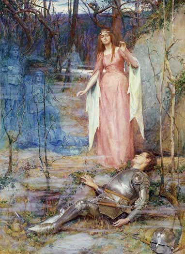 """""""La Belle Dame Sans Merci Thee Hath in Thrall"""" - Henry Meynell Rheam's Painting"""