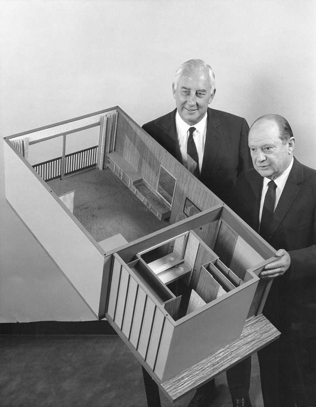 Imagineering Disney - Model of the Contemporary Rooms that slid into the frame of the hotel during construction.