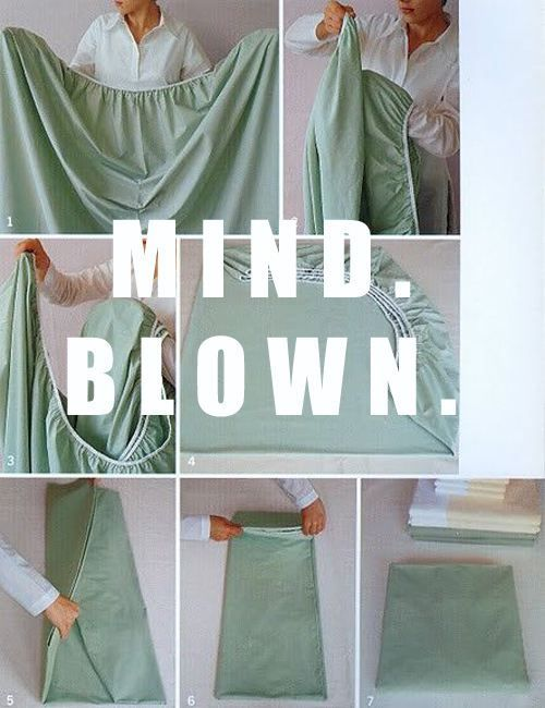 I'll have to try this. I'm Folding Fitted Sheets Challenged. (Even after my mom tried many times to teach me.)