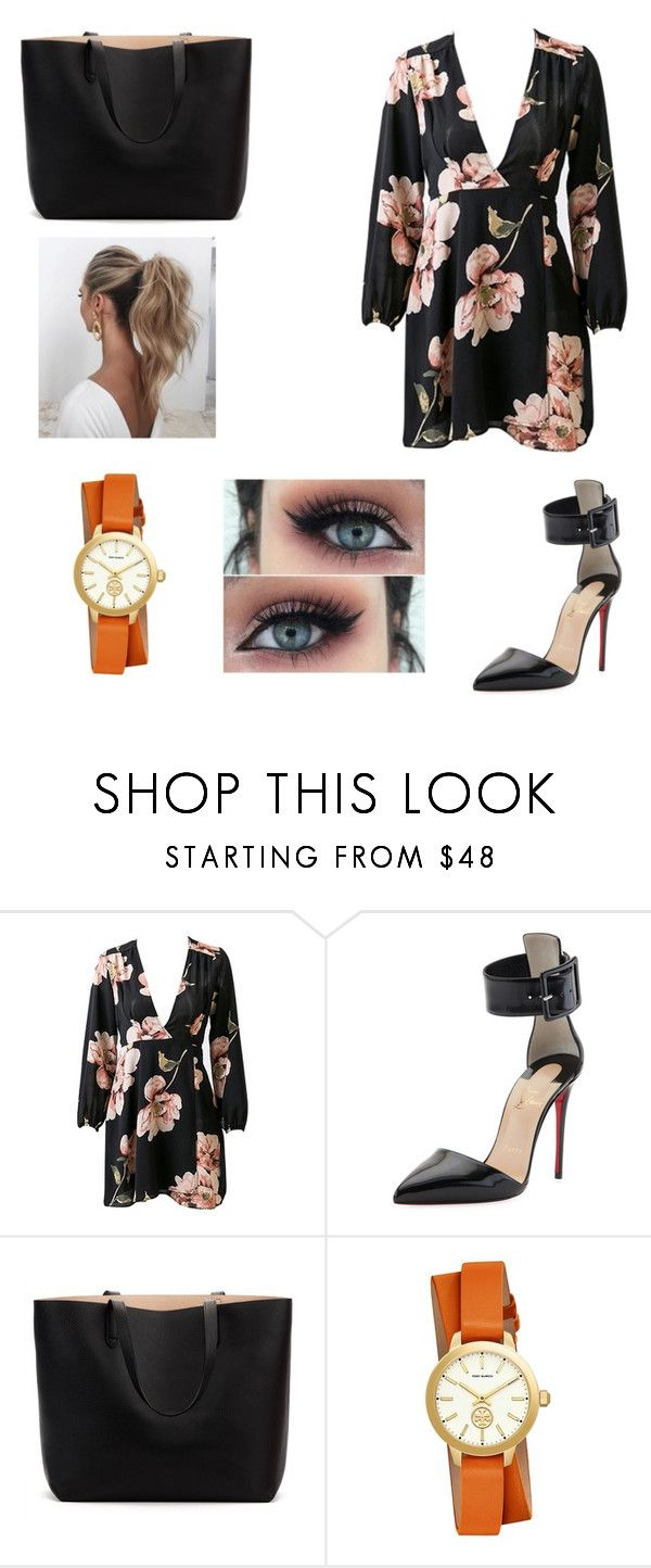 """Untitled #219"" by denysa-boldog on Polyvore featuring Christian Louboutin, Love Couture and Tory Burch"