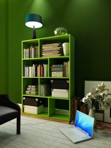 """Se spune despre culoarea verde că destinde considerabil atât fizicul, cât şi psihicul. Ea ne permite să echilibrăm structura somatică cu cea psihică şi face posibilă o rapidă diminuare a stresului, precum şi anihilarea neliniştilor. Culoarea verde este utilizată cu succes în lupta împotriva iritabilităţii. De aceea, astăzi vă oferim posibilitatea de a schimba puţin designul camerei, într-o culoare care are doar efecte benefice! Iar etajera """"Plaid"""" este exact ceea ce trebuie :)…"""