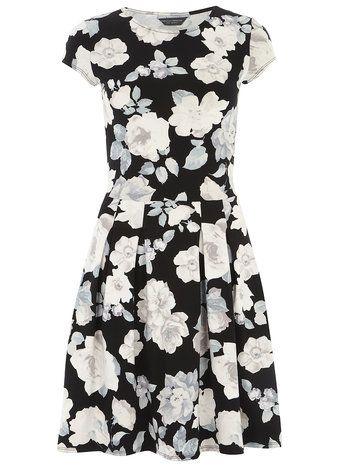 Robe à fleurs et plis creux - Grande taille - Robes ajustées & evasées  - Robes - Vêtements