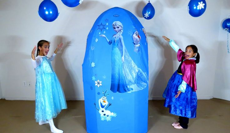 100 Toys + Giant Frozen Surprise Egg - Barbie Power Wheels Car Disney toys
