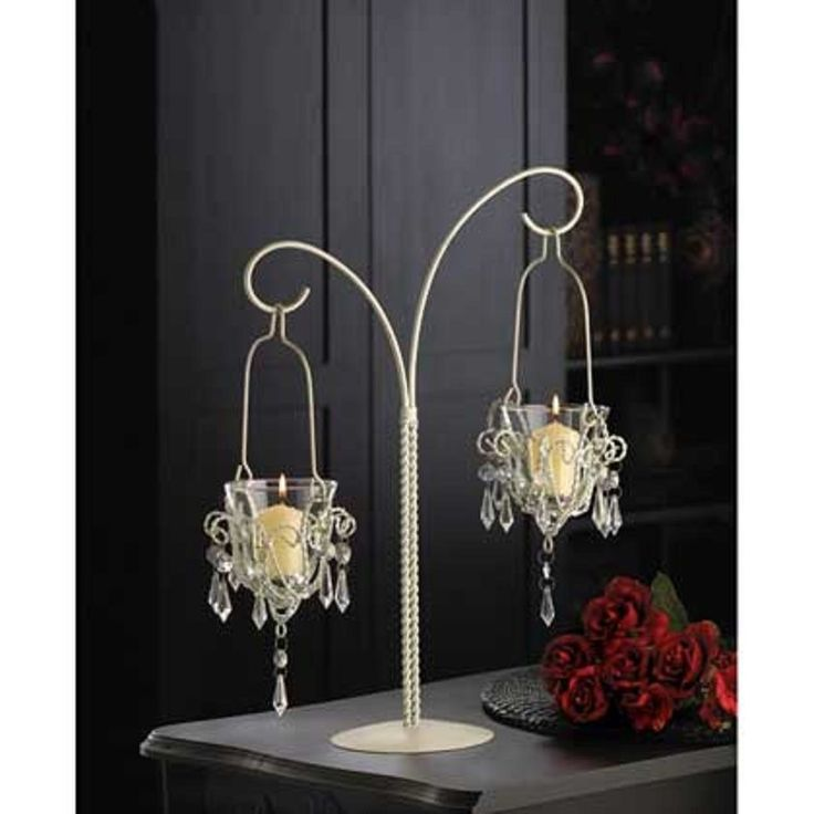"""Details about White 17"""" tall Crystal beaded chandelier ..."""