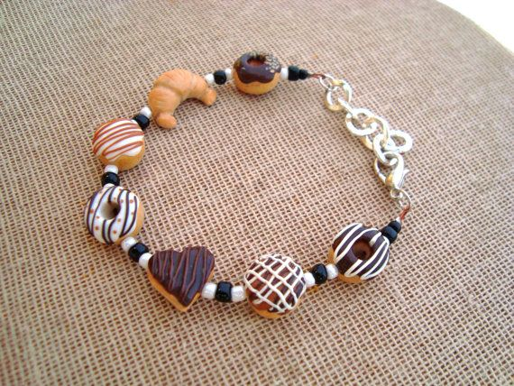 Check out this item in my Etsy shop https://www.etsy.com/listing/224464012/chocolate-donut-bracelet-handmade-from