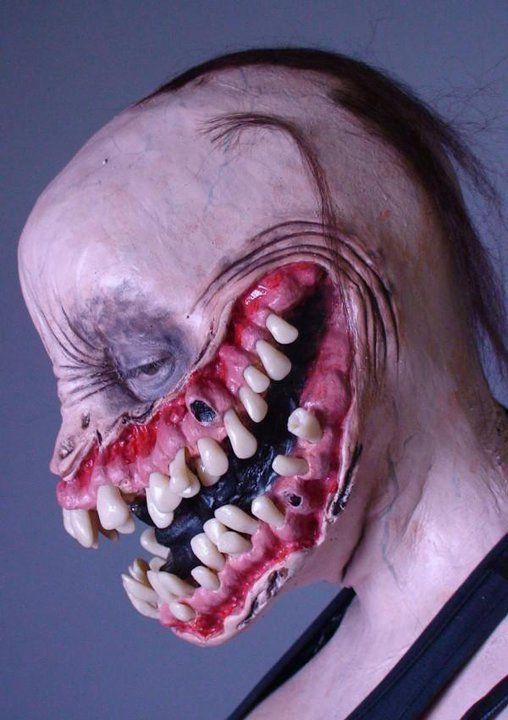 She's got a beautiful smile  #cms #cinema #makeup #school #monster #spfx #special fx #grin