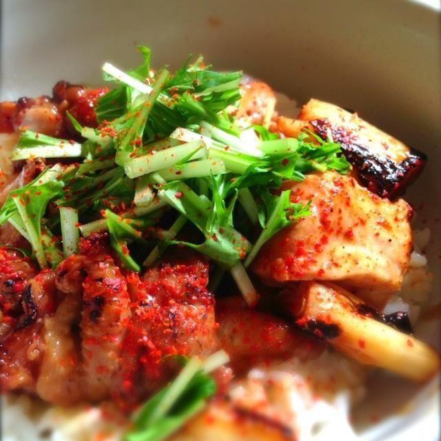 おはようございます。(。-∀-。)  今日は朝から近所の商店街の惣菜屋さんに行って焼きたての焼き鳥を購入!ヽ(・∀・)  旨し!!(σ´∀`)σ - 199件のもぐもぐ - 焼き鳥丼 by shinjiterao