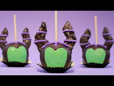 MALEFICENT CANDY APPLES - NERDY NUMMIES - YouTube XD I don't know why I want it on halloween but... maybe next year it would be fun to have a blowout on the night before :o